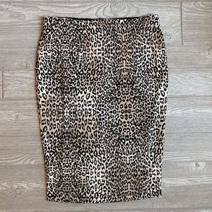 Vince Camuto - Pull-On Leopard Pencil Skirt